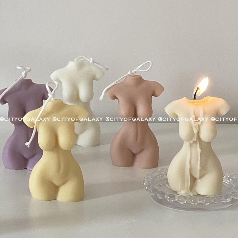 Ins Korean Same Body Candle Hand-Made Incense Candle Girl Girlfriend Birthday Gift