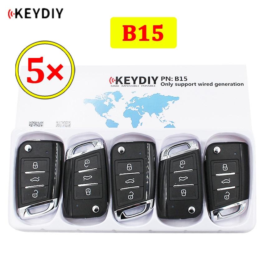 5 шт./лот KEYDIY B серии B15 3 кнопки Универсальный KD пульт дистанционного управления для KD900 KD900 + URG200 KD-X2 mini KD для VW MQB стиль