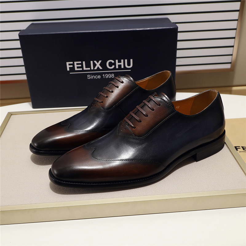 Genuine Leather Men Formal Oxfords Shoes Business Office Work Dress Shoes for Men Comfortable Lace Up Pointed Toe Size 39-46