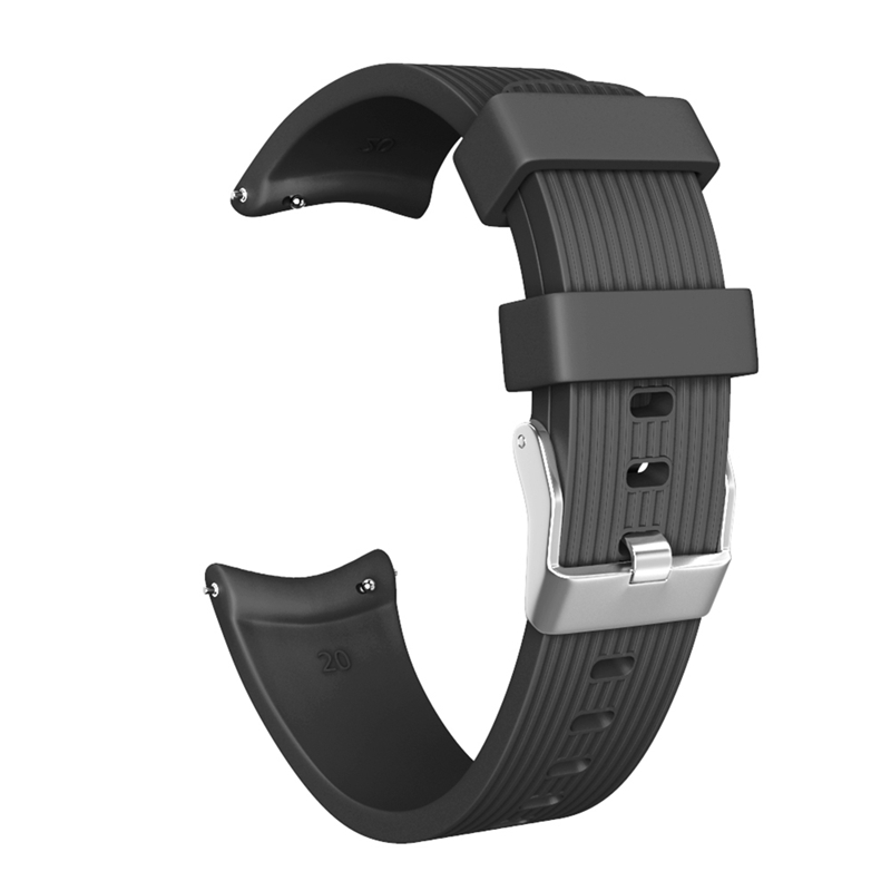 Watchbands Applicable For Galaxy Watch Active Striped Silicone Strap For Everyday Clothing With Strap 20mm