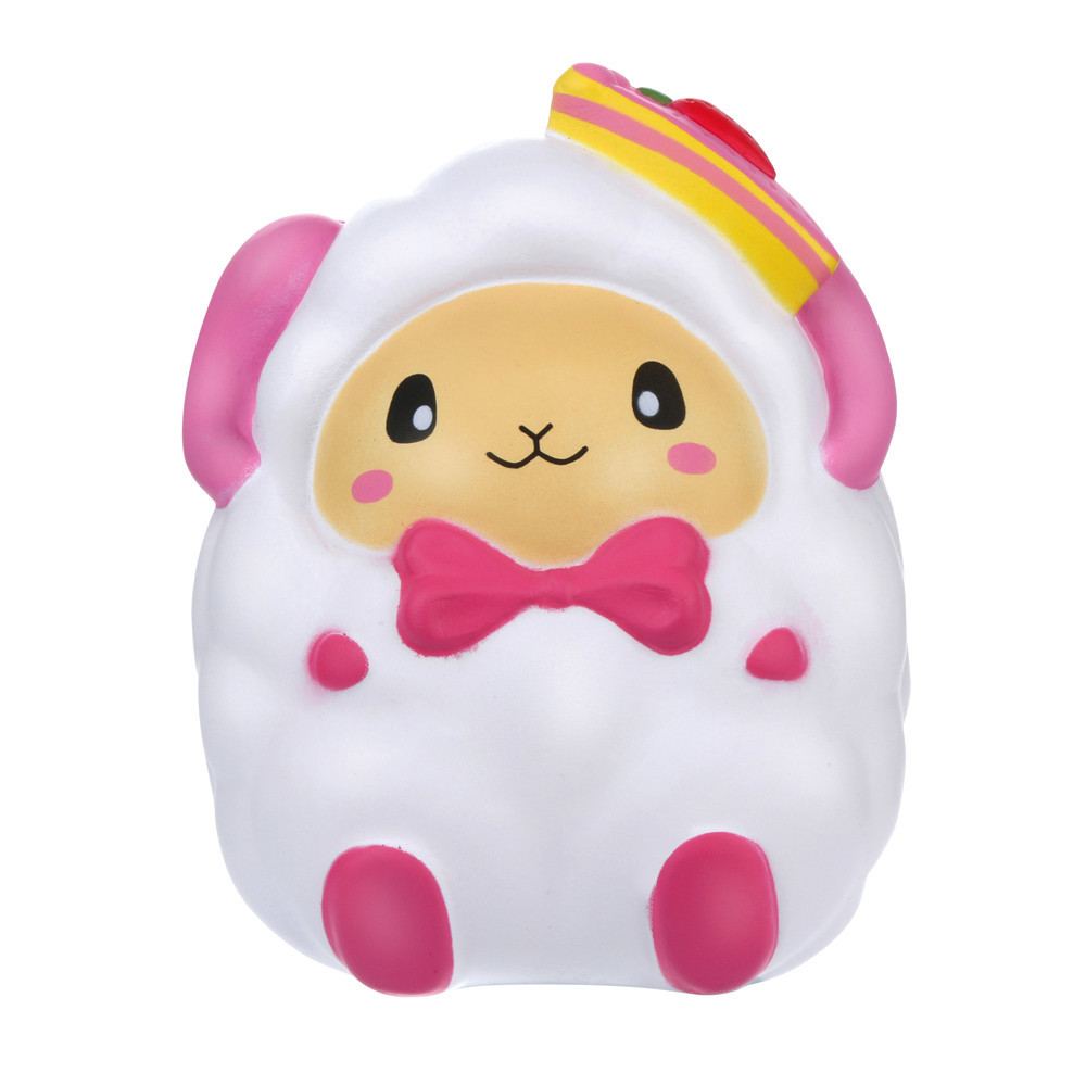 Adorable Cartoon Strawberry Sheep Slow Rising Stress Relief Toys Inger Rehabilitation Training Props Toys For Children #C