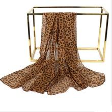 Fashion Women Leopard Print Scarf Shawl 160*50cm boho Chiffon Big Ladies Autumn and Wraps for Evening Party Dresses
