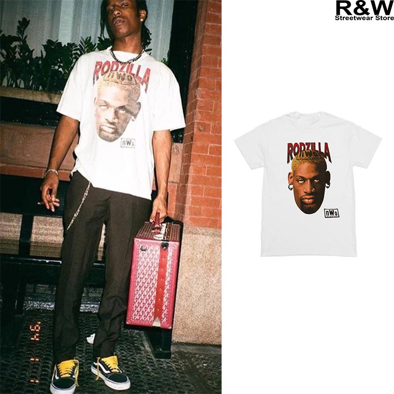 Dennis Rodman Vintage T Shirt Men Women Hiphop Streetwear Boy Basketball Clothes Mob Travis Scotts Astroworld Cotton