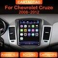 Автомагнитола для Chevrolet Cruze 2008-2012, Android 10,0, GPS, Wi-Fi, стерео, вертикальный IPS экран, мультимедийный видеоплеер 2din BT RDS