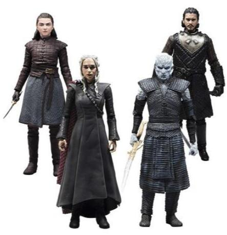 18cm Game Of Thrones Jon Snow Nights King Daenerys Targaryen Arya Stark Action Figure Toys Collectors Christmas Gift With Box