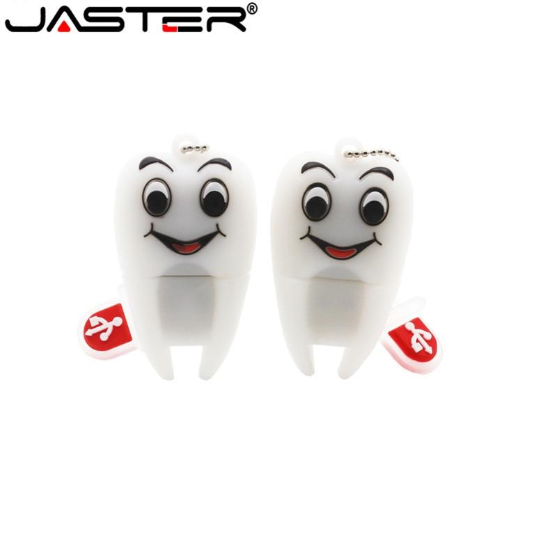 JASTER Cartoon 2 Model Tooth Usb 2.0 Usb Flash Drive 4GB 8GB 16GB 32GB 64GB Pendrive Usb Flash Drive