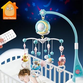 Baby rattles crib mobiles toy holder rotating mobile bed bell musical box projection 0-12 თვის ახალშობილი ჩვილი ბავშვის სათამაშოები