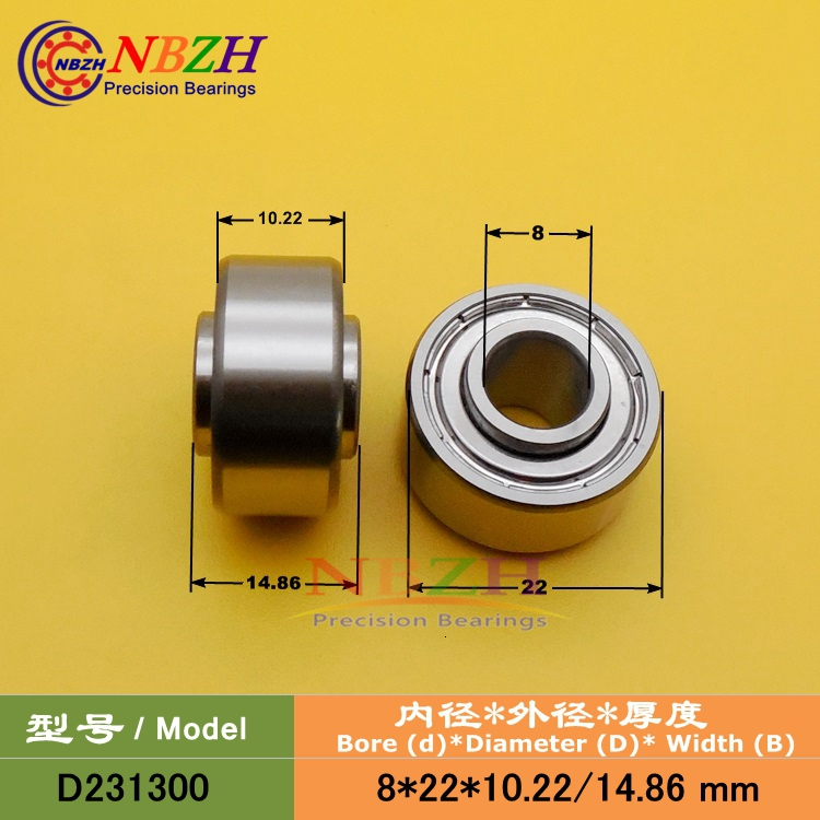 8x22x10 mm 608zz Width 10mm 4 PCS Metal Shielded Ball Bearings 8*22*10 608z