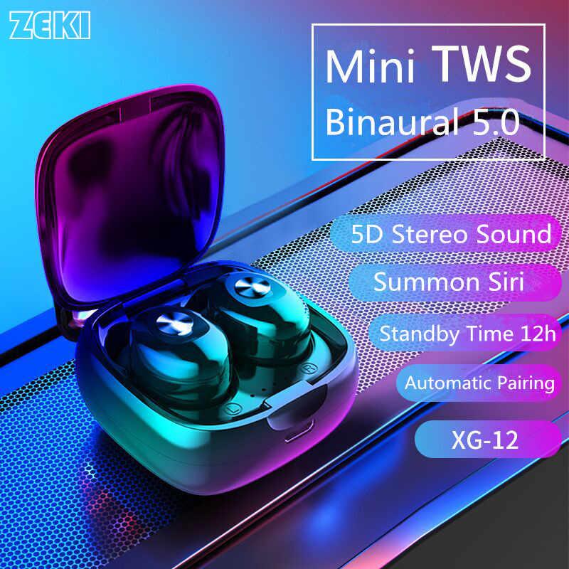 XG12 TWS True auriculares inalámbricos Bluetooth 5,0 auriculares HiFi Binaural estéreo sonido Earburd Auto emparejamiento auriculares para teléfono