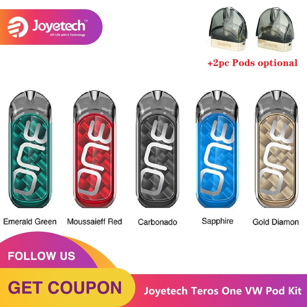 Original Joyetech Teros One VW Pod Kit E-cig Vape Kit W/ 650mAh Battery & 2ml Pod Cartridge & 0.5ohm Coil Vs Drag Nano / Vinci X