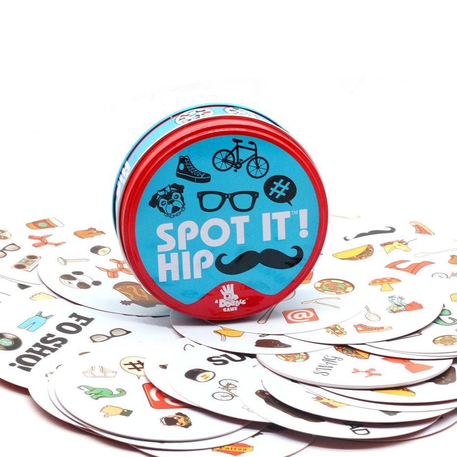 High Quality Board Game Kids Spot Cards It Go CampingEnglish Version Brand New With Metal Tin Box Hip Sports