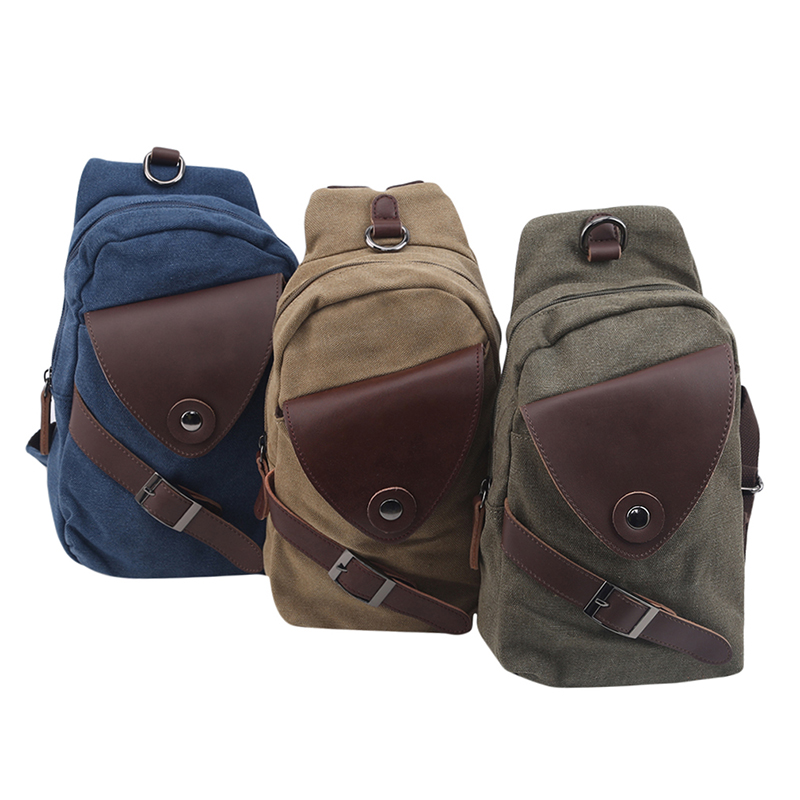 Universal Canvas Shoulder Bag Small Backpack Travel Mountaineering Large Capacity Backpack Retro Men's Women's Outdoor