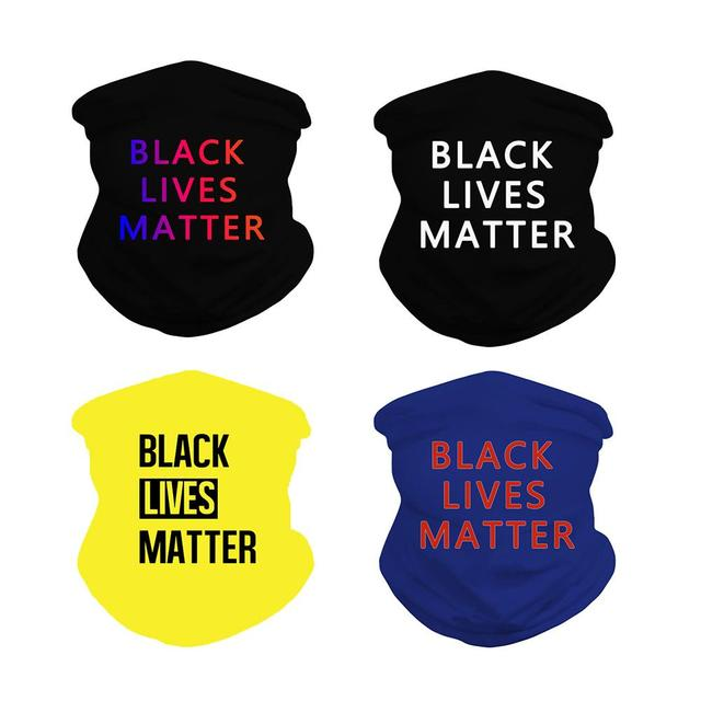 Black Lives Matter Mask Quick-drying Breathable Sport Cycling Skiing Hiking Bandana Scarf Men Women Neck Gaiter Cover Face Scarf 5
