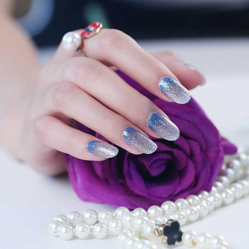ชุดสติกเกอร์เล็บชุดผสม Glitter Powder Gradient สีสาวเซ็กซี่ Nail Art Decals น้ำโอนเล็บสติกเกอร์ DIY เล็บ ART