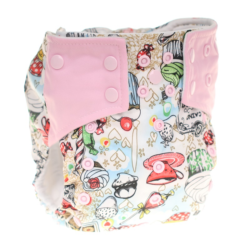 [CHOOEC] 2020 New One Size Baby Washable Reusable Pocket Cloth Diapers Double Breasted Digital Integrated Flower Pattern Pant