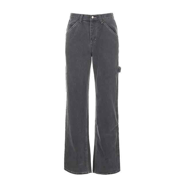 Streetwear Straight Denim Pants  5