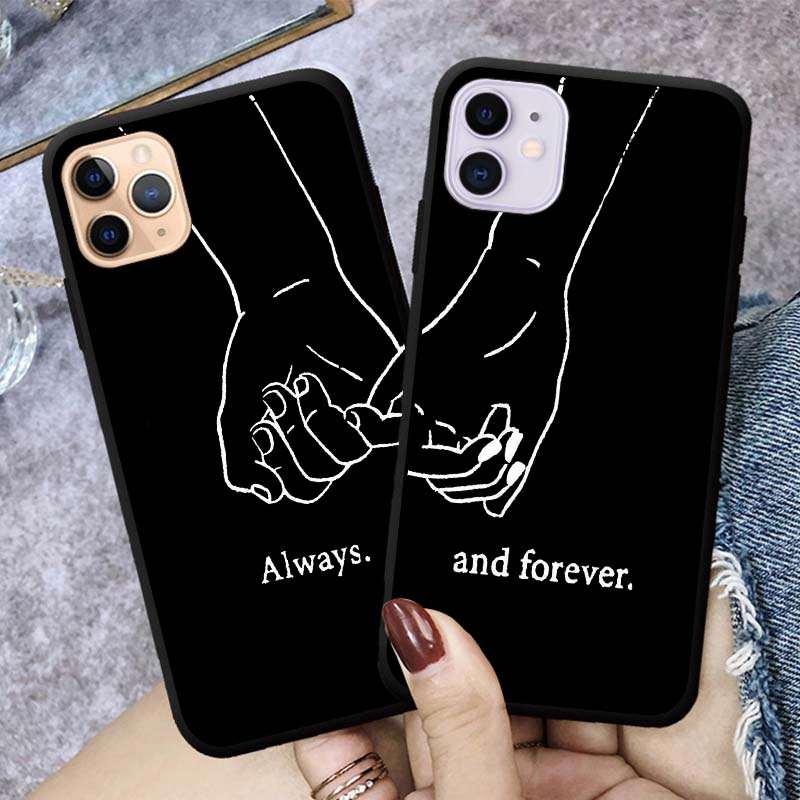 Girls <font><b>Bff</b></font> Best Friends Forever Always Black Phone <font><b>Case</b></font> Cover For <font><b>iPhone</b></font> 11 pro max 7 6 6S 8 Plus Coque X XR XS 5S <font><b>SE</b></font> Cute Couple image