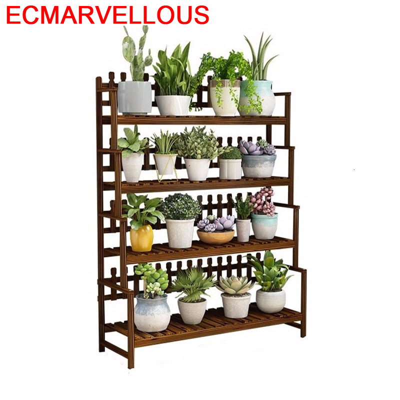 Escalera Huerto Urbano Madera Indoor Pot Garden Shelves For Stojak Na Kwiaty Balcony Shelf Outdoor Flower Dekoration Plant Stand