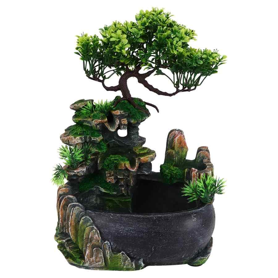 Atomizing Desktop Fountain Waterfall Humidifier For Office Home Desk Home Decoration Accessories Figurines Miniatures Aliexpress