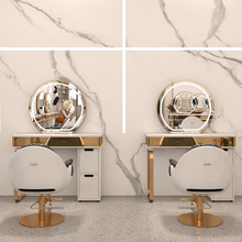 Mirror Chair Salon Barber-Shop for Without Led-Light Illuminated Beauty Desktop
