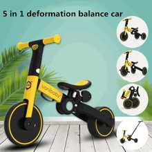 5 in 1 Baby Stroller Children Bicycle Tricycle Child Two Wheel Bike Foldable Baby Balance Bike Kids Scooter for 1-6 Years Old
