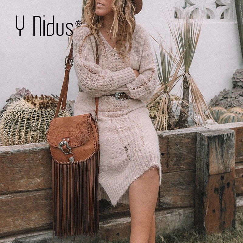 Y Nidus Winter Sweater Dress Women Warm Maxi Dresses 2019 Autumn Sexy Hollow Knitted Loose Christmas Long Party Dress Vestidos