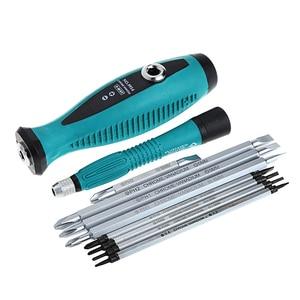 Image 5 - 10 sztuk zestawów szczelinowych śrubokręt magnetyczny do napraw wielofunkcyjny wielofunkcyjny zestaw narzędzi ręcznych t15 828 promocja