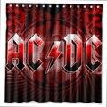 AC & DC Muster Kreative Bad Dusche Vorhänge Badezimmer Wasserdicht Polyester Stoff Dusche Vorhang Für Kinder Bad Dekor-in Duschvorhänge aus Heim und Garten bei