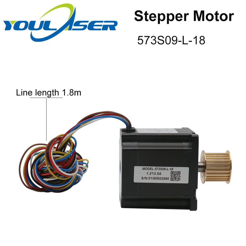 H7a6a6c55fba34c4e8859e5f251974fc5A - YOULASER Leadshine 3 Phase Stepper Motor 573S09-L-18 for NEMA23 3.5A Length 50mm Shaft 6.35mm