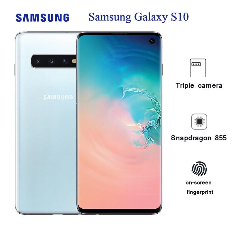"Samsung Galaxy S10 G9730 cep telefonu 8GB 128GB 6.1 ""Snapdragon 855 Octa çekirdek 10MP ön kamera 3400mAh NFC akıllı telefon"
