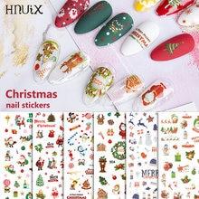 1 лист наклеек для рождественских ногтей наклейки снежинки конверты