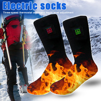 Electric Battery Heated Socks Feet Winter Warmer Heater Foot Shoe Boot TK ing