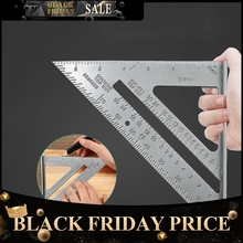 Triangle Rule 90 Degree Thickening Angle Aluminum Alloy Carpenter Measurement Square Ruler