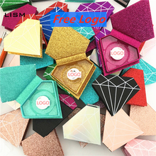 10/20/30/40pcs wholesale false eyelashes packaging box fake 3d mink lashes boxes faux cils strip diamond magnetic case empty