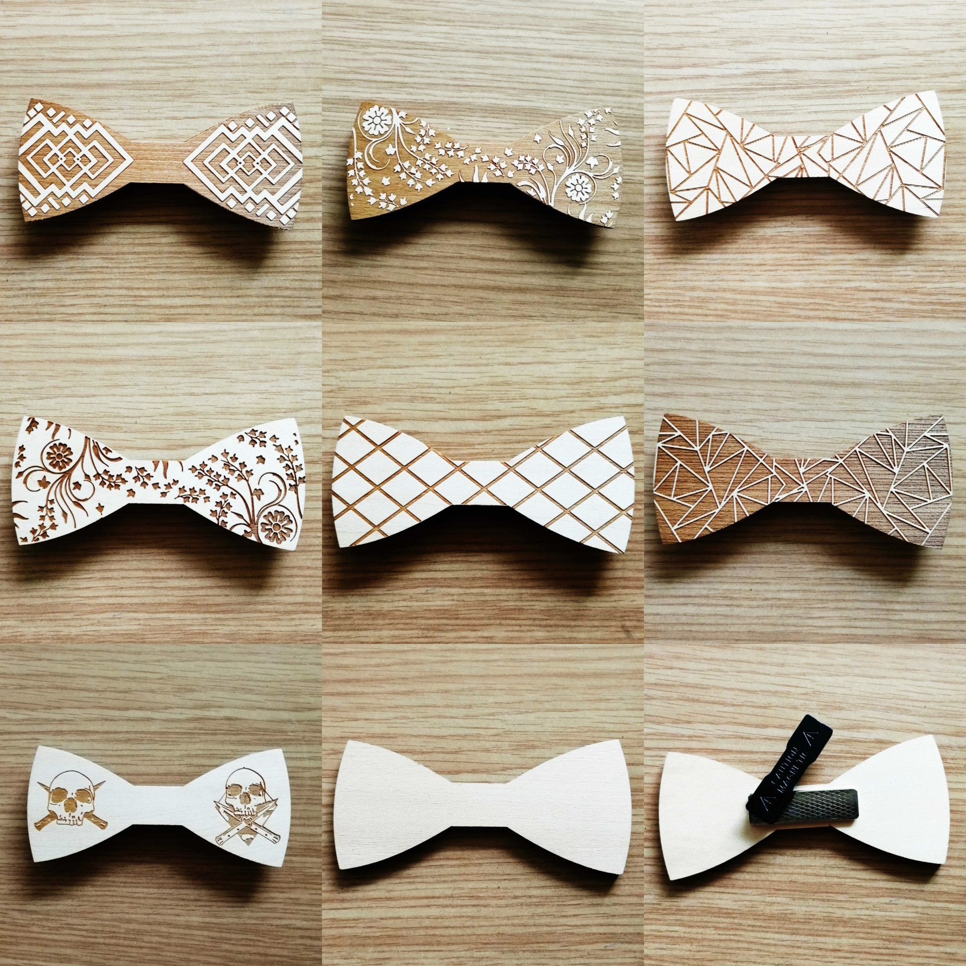 Handmade Wooden Bow Tie Men's Unisex Suit Shirts Wedding Party Classic Trendy Simple High-grade Wood Bowtie Customizable Gifts
