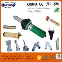 2020 offre spéciale Rayma marque 1600w soudeuse à air chaud en plastique pistolet à souder outils ensemble avec 2x vitesse buse de soudage et 1x silicone rouleau
