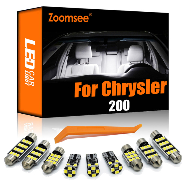 Zoomsee Interior LED For Chrysler 200 2011-2017 Canbus Vehicle Bulb Indoor Dome Map Reading Trunk Light Error Free Auto Lamp Kit 1