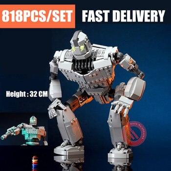 Новый MOC Железный робот, подходит для Lepining Technic City Figures Voltron, гигантская модель, строительные блоки, кирпичи, детские игрушки, подарки для мальчика на день рождения