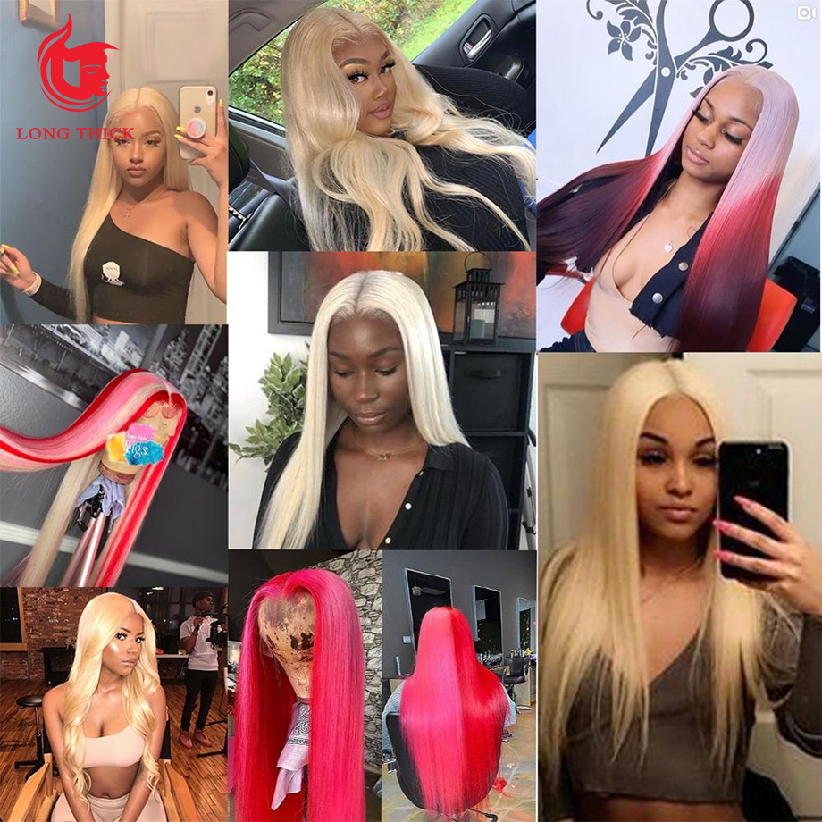 Bone Straight  Wig 613 Straight bob 30 Inch Honey Blonde Lace Front Wigs   Hd Lace Frontal Wig 5