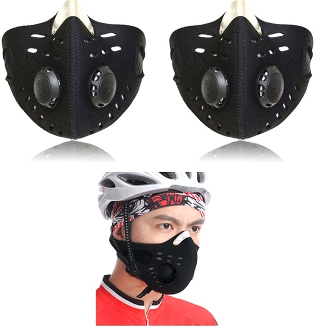 Outdoor Prty Hlf Fce Msks ctivted Crbon Lining nti-Pollution Dusk-proof Cycling MTB Rod Bike Prty Sports Riding Msk 5