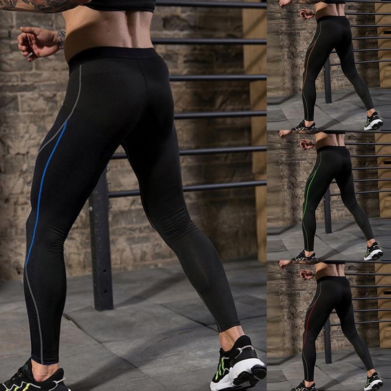 SHUJIN Fitness Men Pants Men Joggers Tight-fit Quick Dry Skinny Trousers Sports Leggings Men Gym Casual Workout Pants 2019