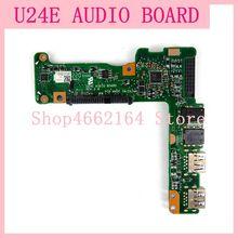 U24E Audio Board For Asus U24E U24A HDD Hard Disk Adapter Board Sound Card USB SD Hard Disk Interface REV 2.0