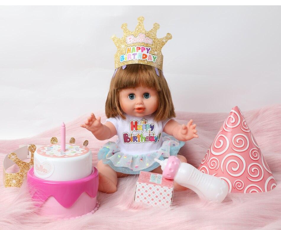 Incredible 36Cm Reborn Doll Simulation Diy Singing Glowing Birthday Cake 14 Funny Birthday Cards Online Eattedamsfinfo