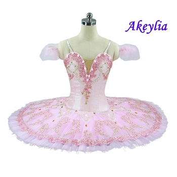 Free shipping pink ballet tutu with cute flowers professional classical ballet tutu for girls pancake nutcracker ballet tutu Kid воротник tutu tutu tu006ggwtf02