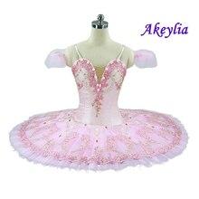 Tutu de ballet rose mignon avec fleurs, tutu de ballet professionnel classique pour filles, en crêpe, casse noisette, livraison gratuite