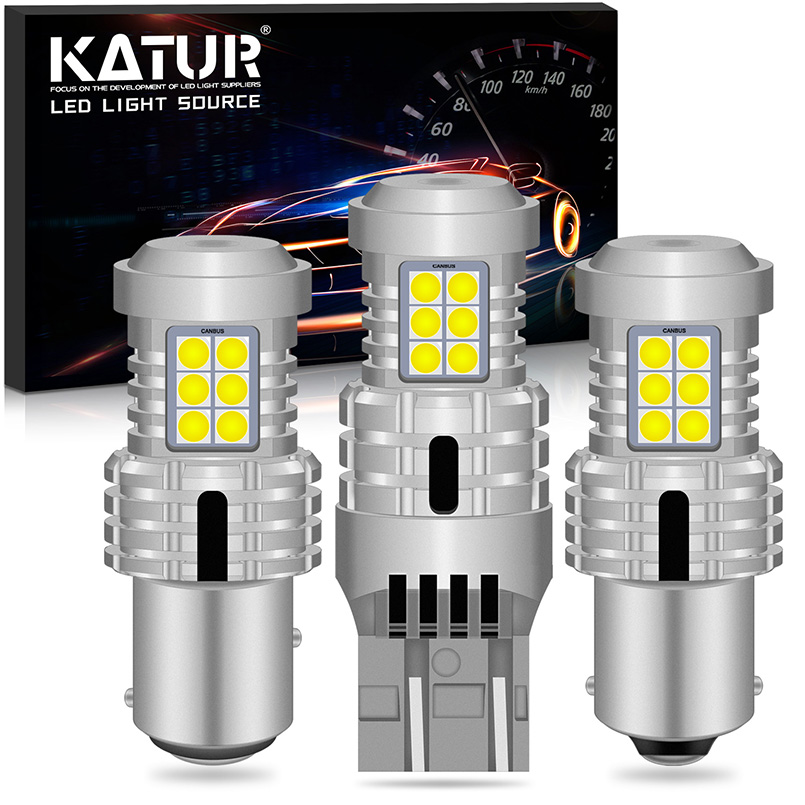 2x 2400Lm T20 W21W 7440 7443 1156 BA15S P21W BAU15S PY21W 1157 BAY15D 3157 LED Canbus Turn Signal Light Bulbs Amber Yellow White