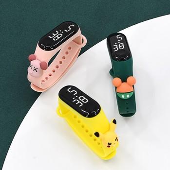 Silikonowy zegarek elektroniczny Led Xiaomi kreskówka lalka kreatywni studenci oglądaj Mi 3 wodoodporna bransoletka dziecięca wydajność towarów tanie i dobre opinie HAIMAITONG NONE CN (pochodzenie) 16mm A889 14mm 20mm 24cm