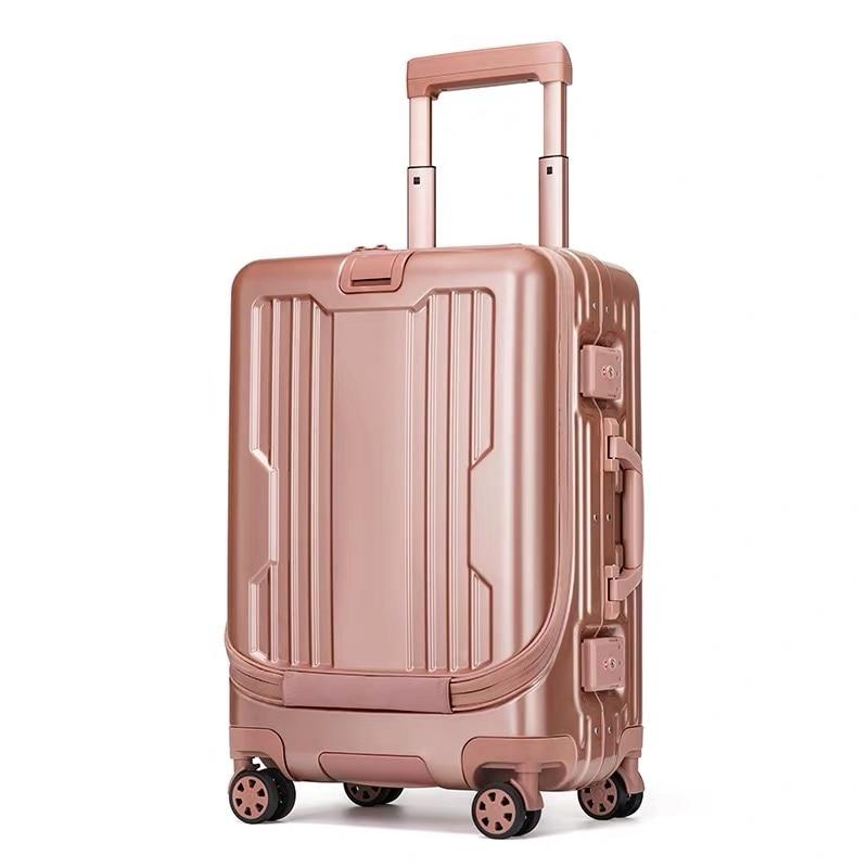 """Torba podróżna 20 """"cal aluminiowa rama kabiny bardzo ciężko rolling przechowalnia na laptopa na wózek walizka do podróży w Walizka na kółkach od Bagaże i torby na  Grupa 1"""