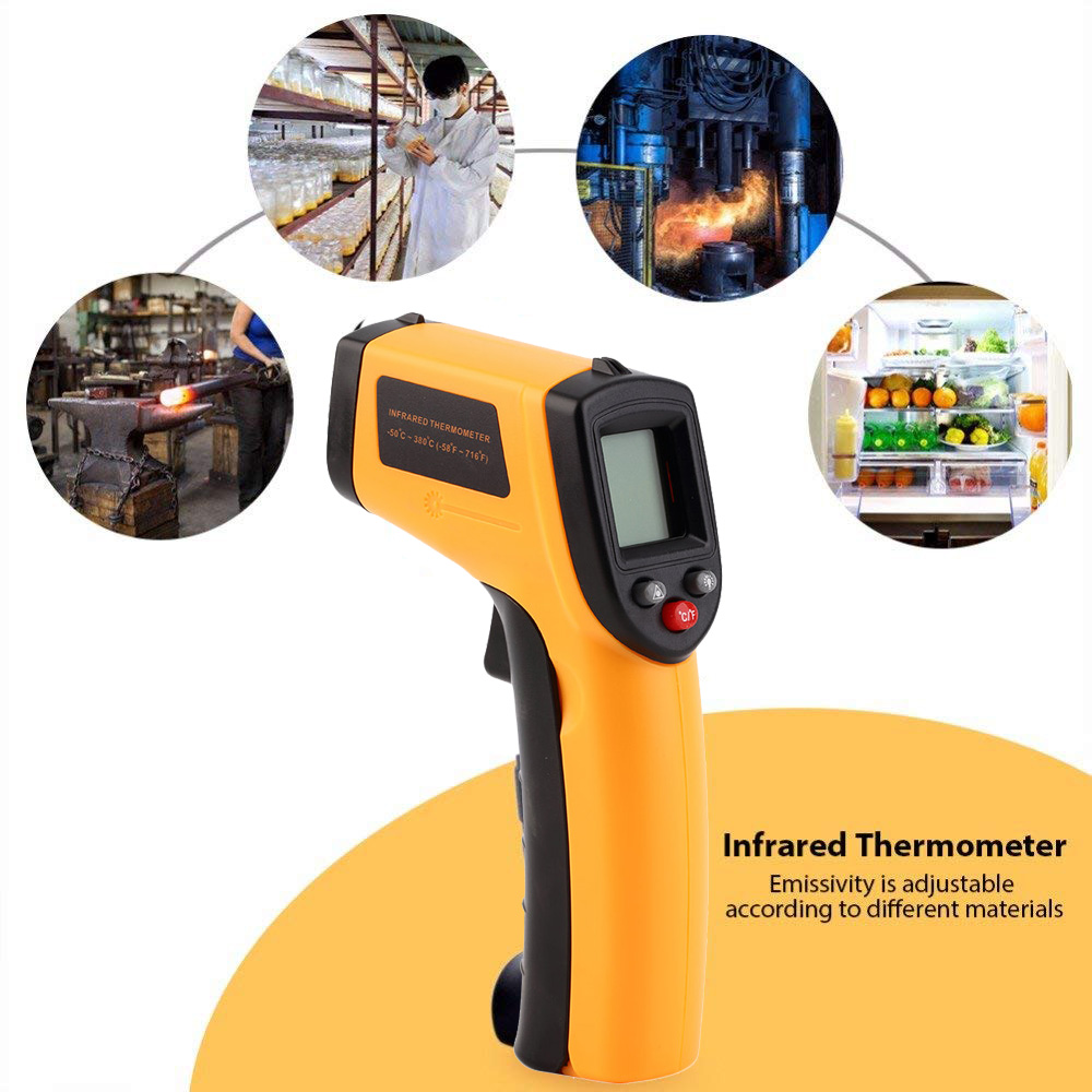 GM550 Non-Contact LCD IR Laser Infrared Digital Temperature Thermometer Gun Test