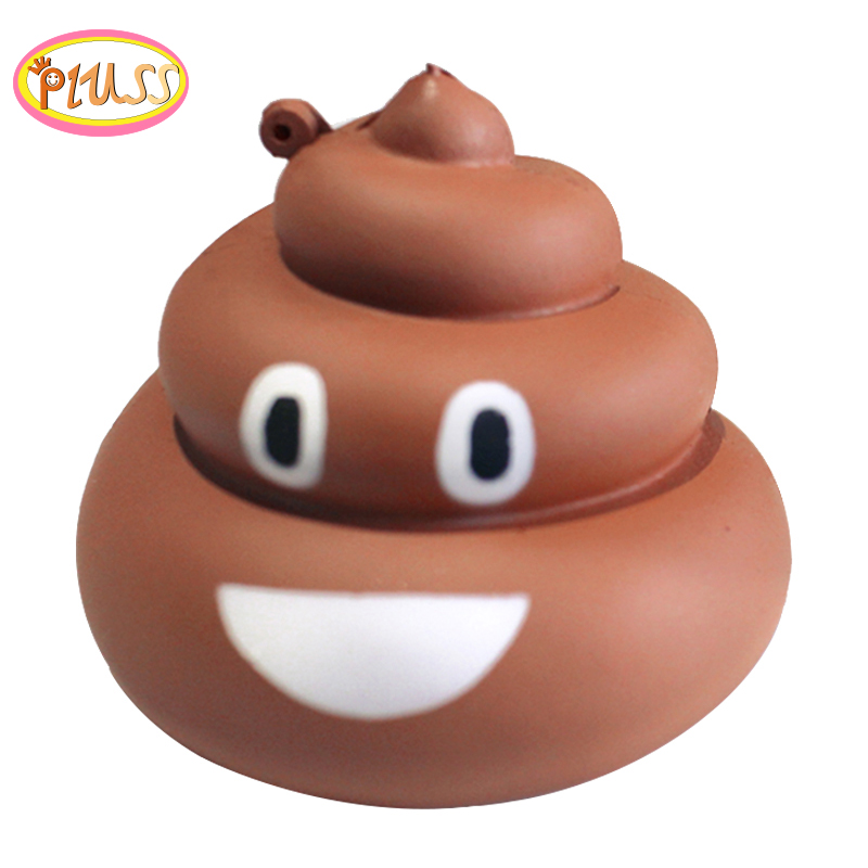 Jumbo Squishy Poo Smiley Expression PU Slow Rising Soft Squeeze Toy Simulation Bread Stress Relief Fun For Kid  Toys Gift